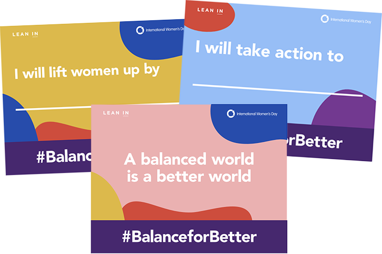 IWD resources - IWD-LeanIn SelfieCards