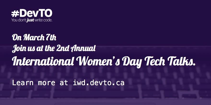 IWD: Annual International Women's Day Talks 2016