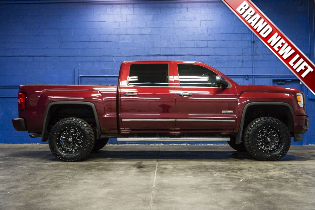 lifted 2014 gmc sierra 1500 all terrain 4x4. Black Bedroom Furniture Sets. Home Design Ideas