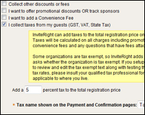 event sample gst tax