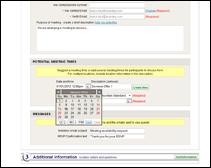 event sample session management