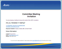 Sample Meeting Invitation Template