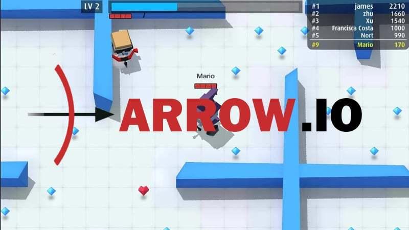 Arrow.io thumbnail image. Play IO Games at iogames.network!