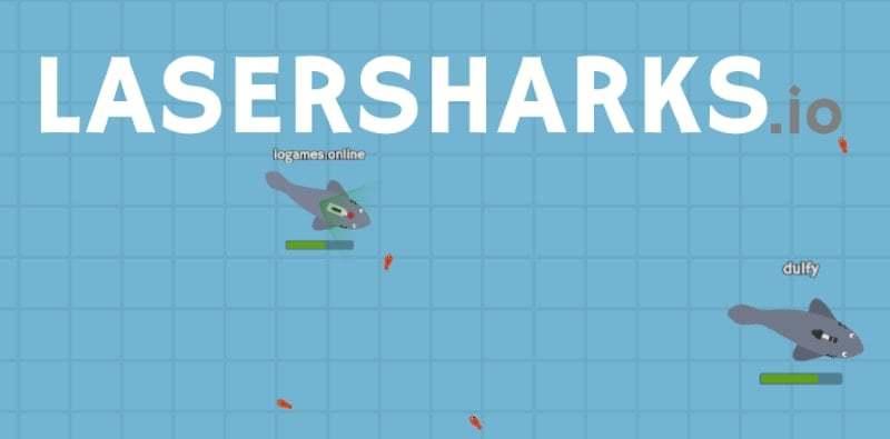 LaserSharks.io thumbnail image. Play IO Games at iogames.network!