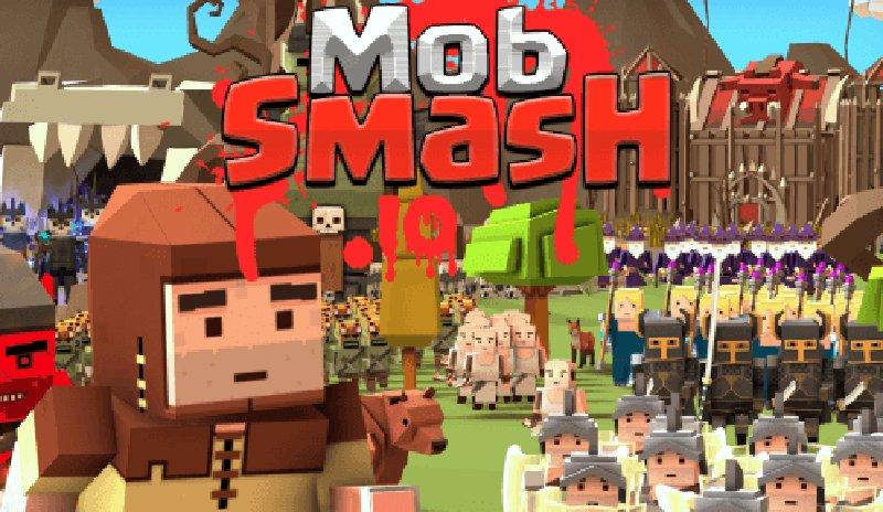 MobSmash.io thumbnail image. Play IO Games at iogames.network!