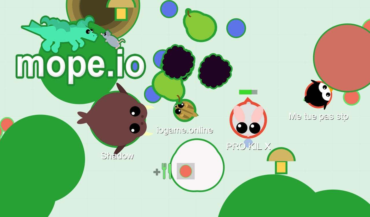 Mope.io thumbnail image. Play IO Games at iogames.network!