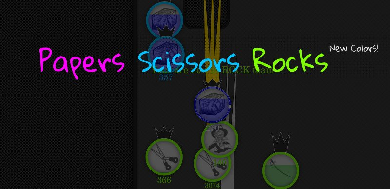Papers.Scissors.Rocks thumbnail image. Play IO Games at iogames.network!