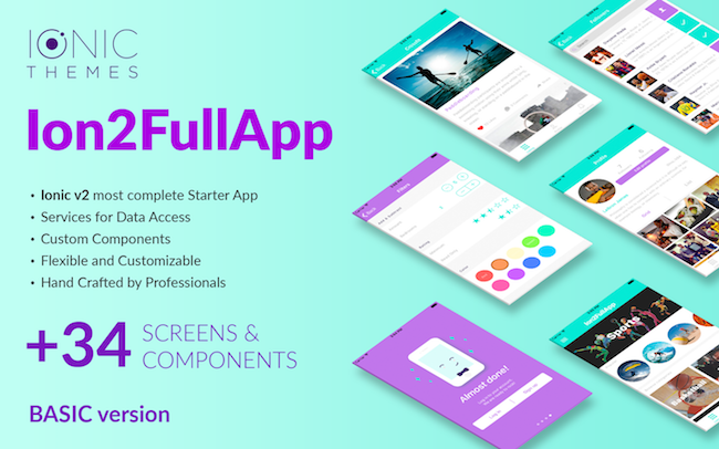 Ion2fullapp Ionic 3 Starter App Template