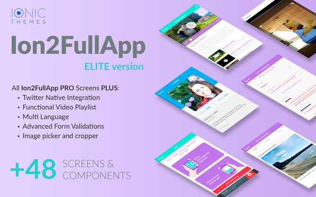 Ion2FullApp ELITE - The most complete Ionic 3 Starter App