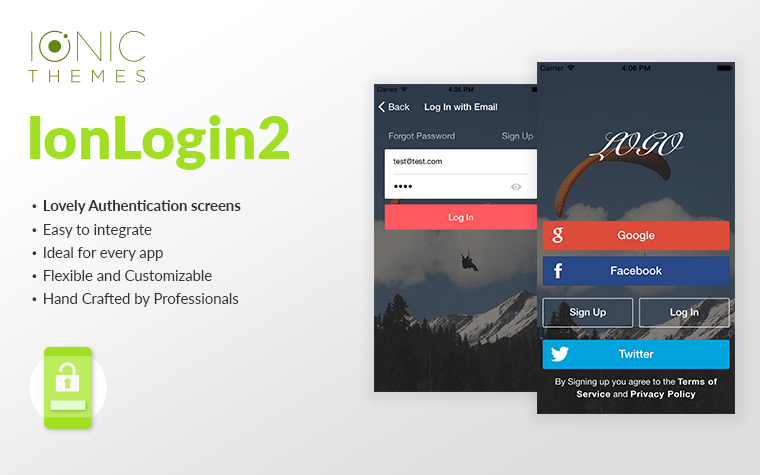Login2 - Ionic Auth Component