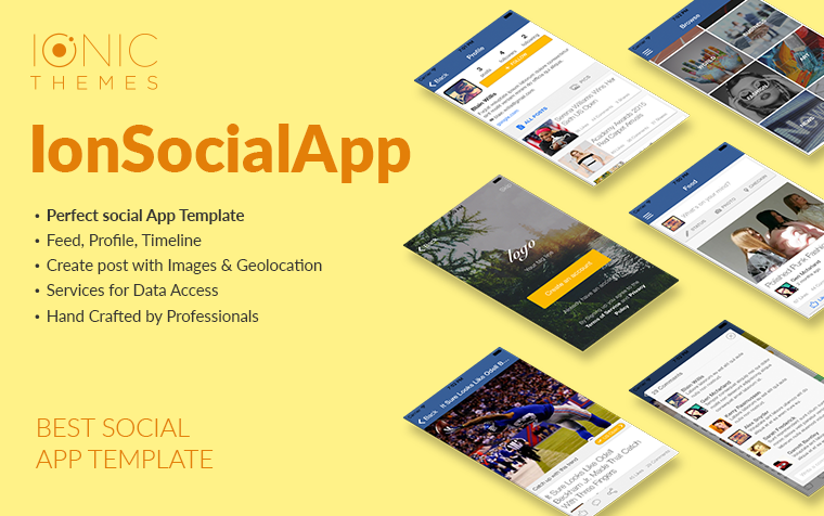 IonSocialApp - Ionic Social Template