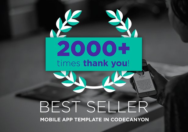 best seller mobile app template