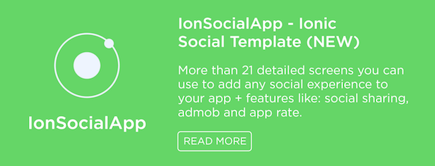 IonSocialApp Ionic Social Template
