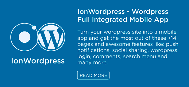 IonWordpress wordpress mobile app