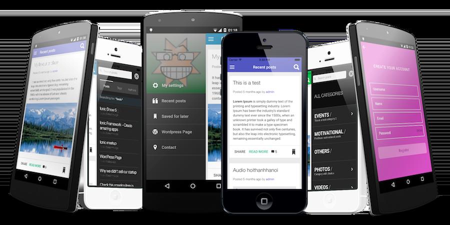 ionWordpress | Ionic WordPress mobile app | IonicThemes - 1