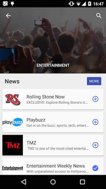 Google Play Newsstand Lists