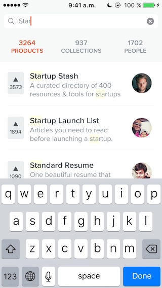 Product Hunt Search
