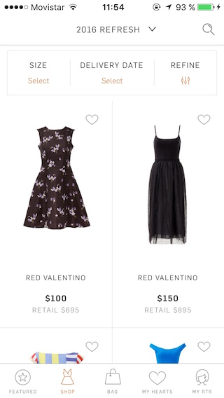 Rent the Runway Shopping