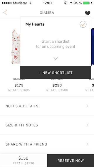 Rent the Runway Notifications