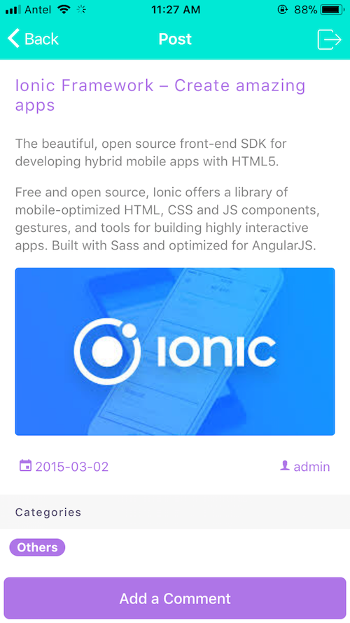 Ion2FullApp Ionic Wordpress