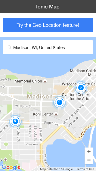 Add Google Maps, Places, and Geolocation to an Ionic App