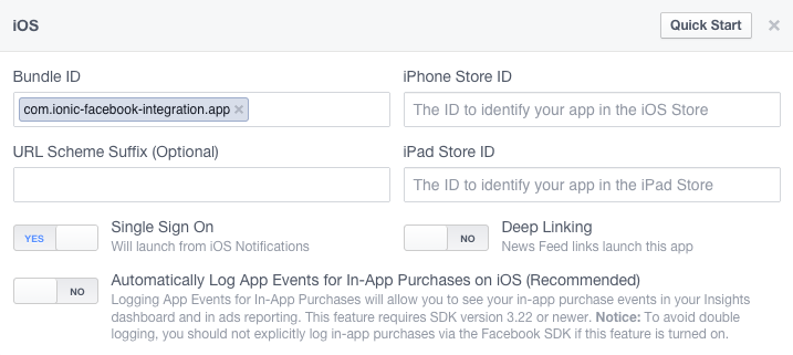 Add Facebook Native Login to your Ionic App