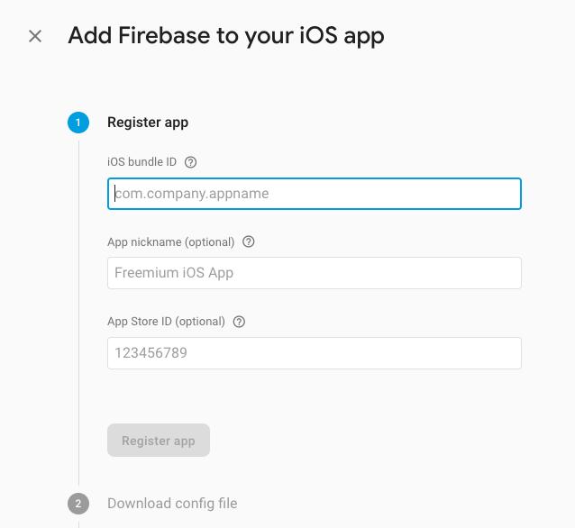 firebase iOS App