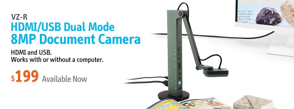 VZ-R HDMI/USB Dual Mode 8MP Doc Cam