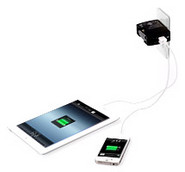 Car and Wall Dual USB Charger for iPad and iPhone