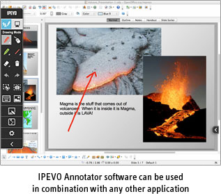 Coloring in Paint software using IPEVO Annotator software