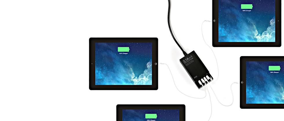 USB SuperCharger - Charge 4 iPads Simultaneously
