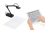 Wirelessly transmit live image to iPad for annotation, presentation, and more