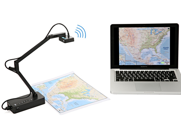 IPEVO iZiggi-HD Wireless Document Camera for iPad, PC and Mac