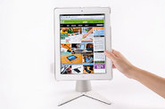 Perch White has the white iPad holder as well as the white base