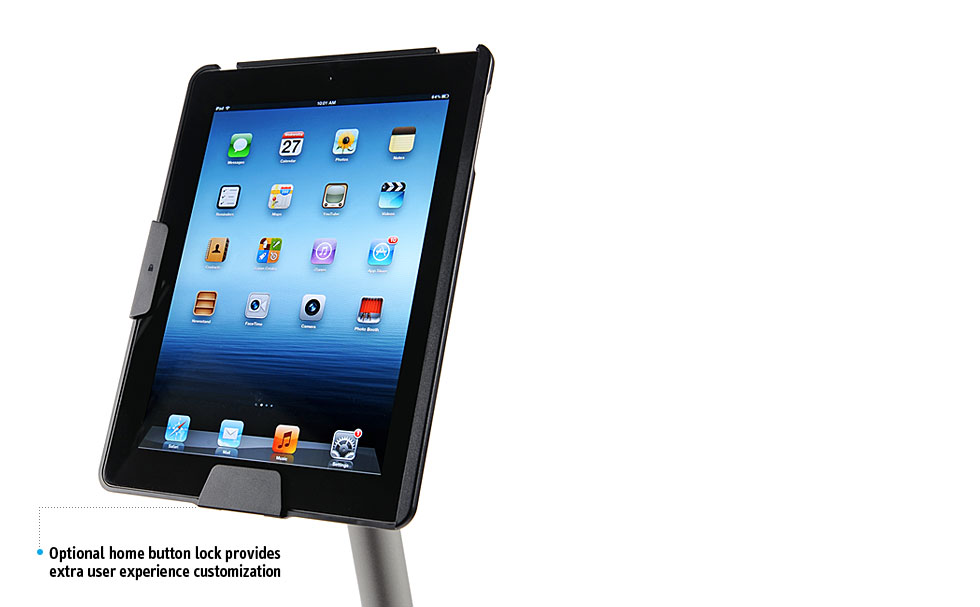 Perch Side Stand Security Set for iPad - M Type
