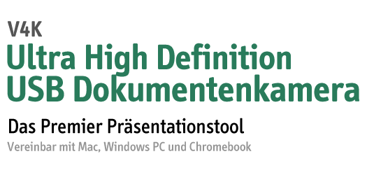 V4K Ultra High Definition USB Dokumentenkamera