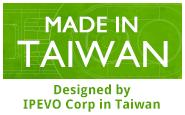 Made in Taiwan. Designed by IPEVO Corp in Taiwan.