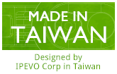 Made in Taiwan. Designed by IPEVO Corp in Taiwan.
