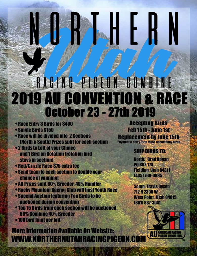 2019 AU Convention Auction Race Winners Auction On Ipigeon Register Now