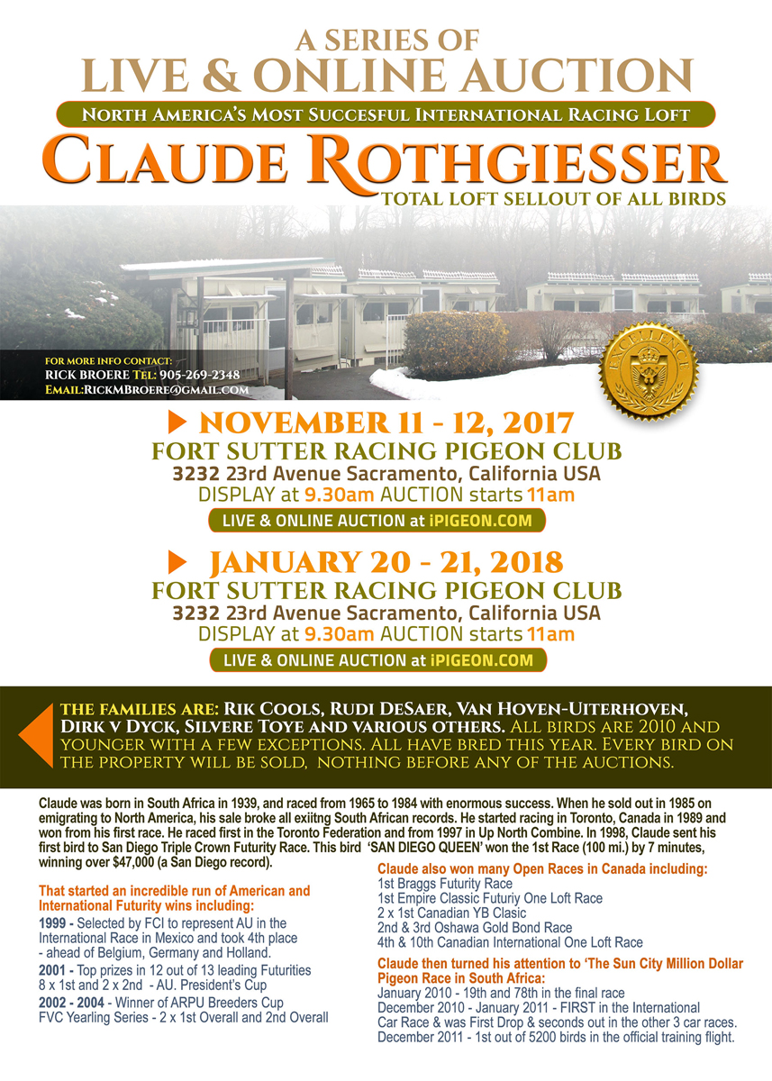 Claude Rothgiesser 2 Live and On Line Import Auctions