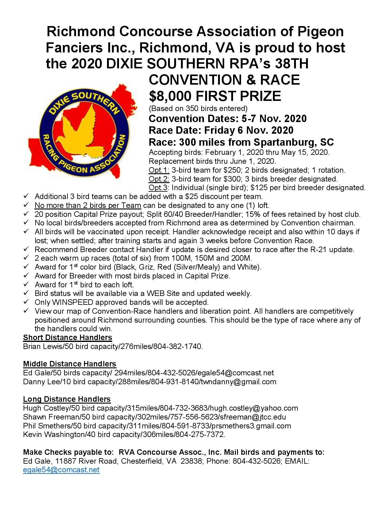 DIXIE SOUTHERN  CONVENTION & RACE