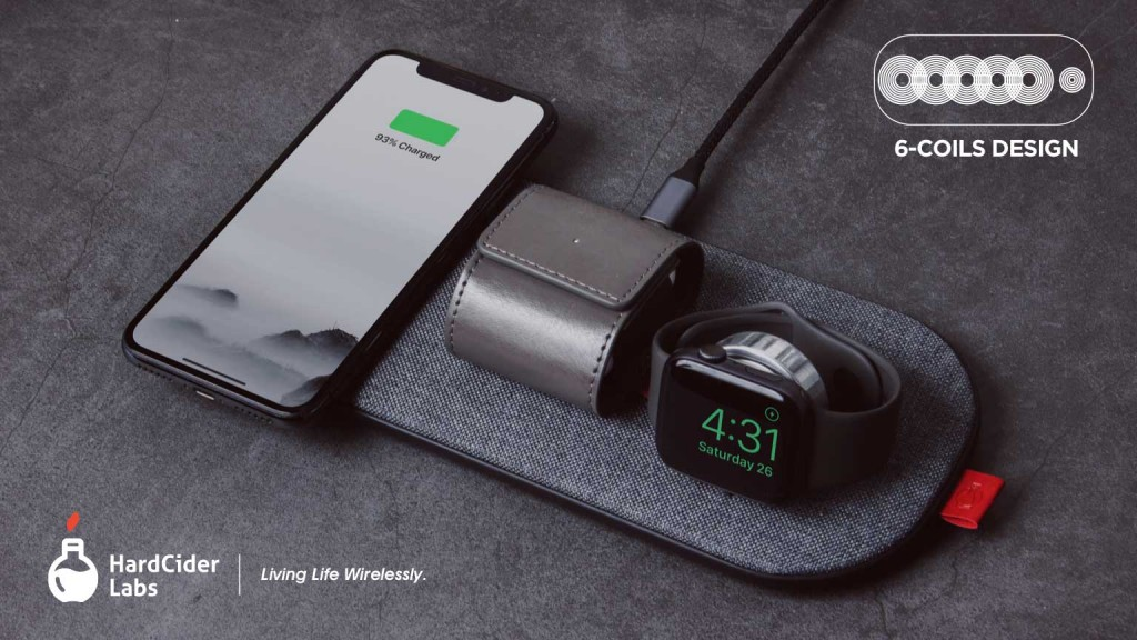 SliceCharge Pro can charge your iPhone Apple Watch  AirPods at the same time