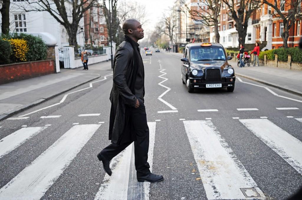 Seal crossing Abbey Road London