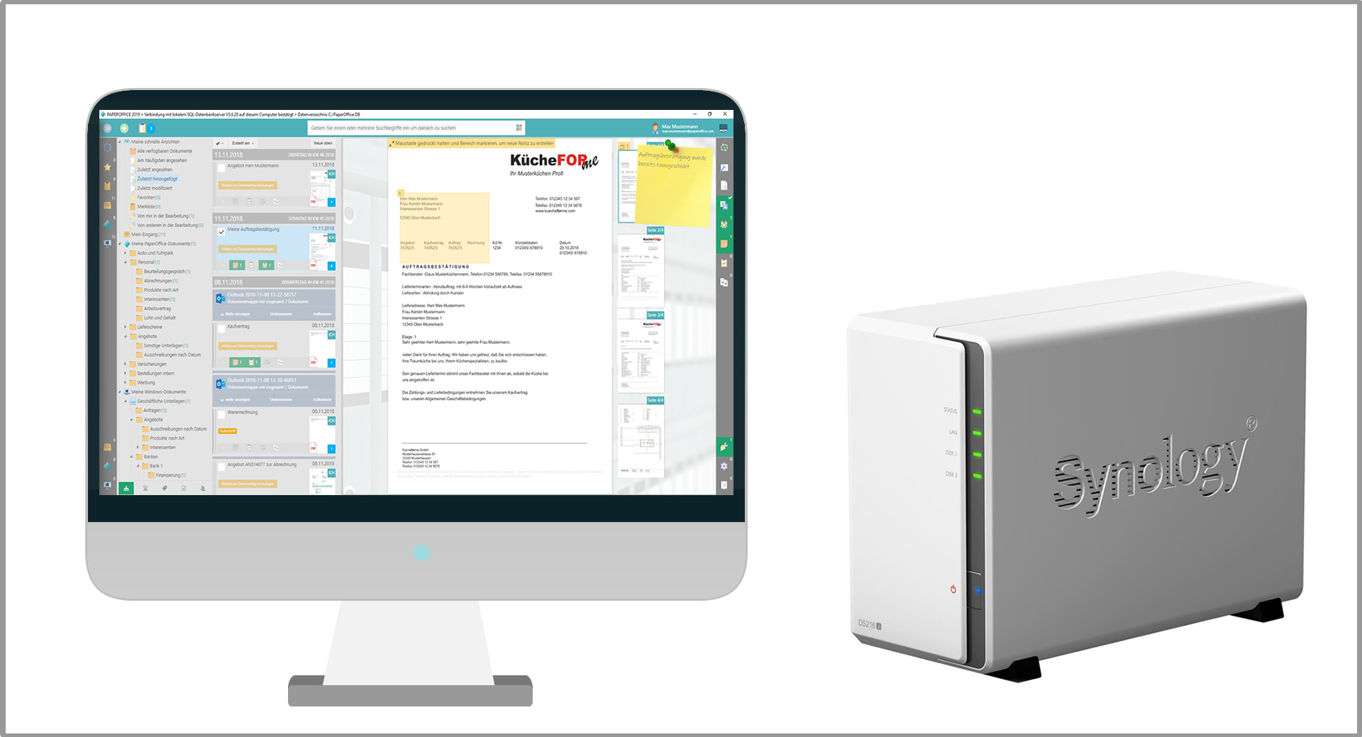 Document management PaperOffice and Synology NAS