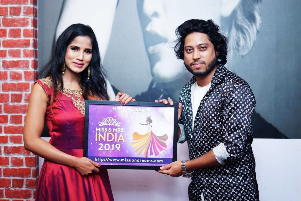 Priya Priyambada with Bollywood Music Composer Vivek Kar in the Launch of Mission Dreams