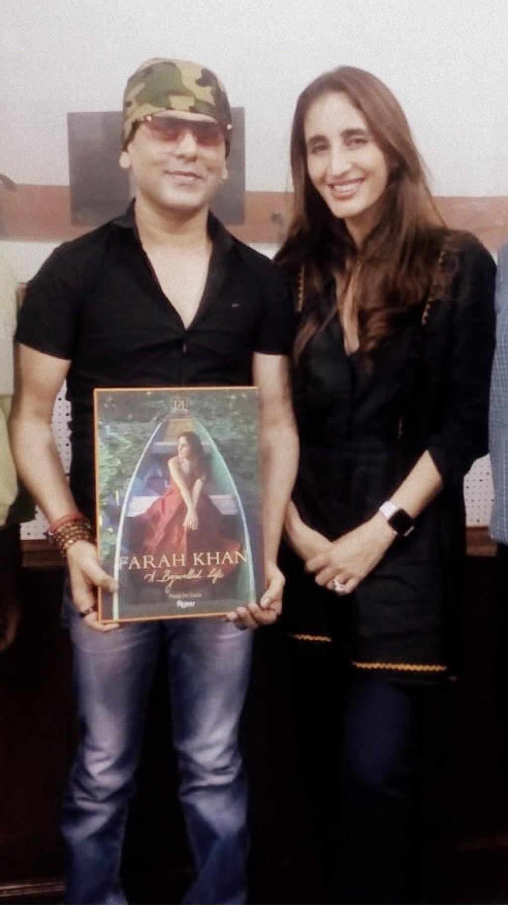 Viveck Shettyy with Farah Khan