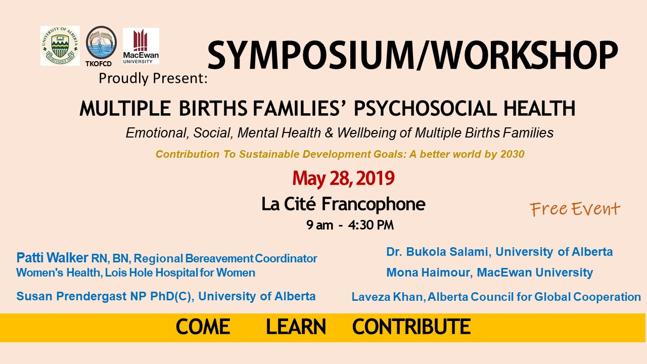 Symposium Emotional Social  Mental Wellbeing of Multiple Birth Families