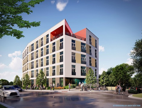 A Rendering of an approved 43unit condominium building City Port