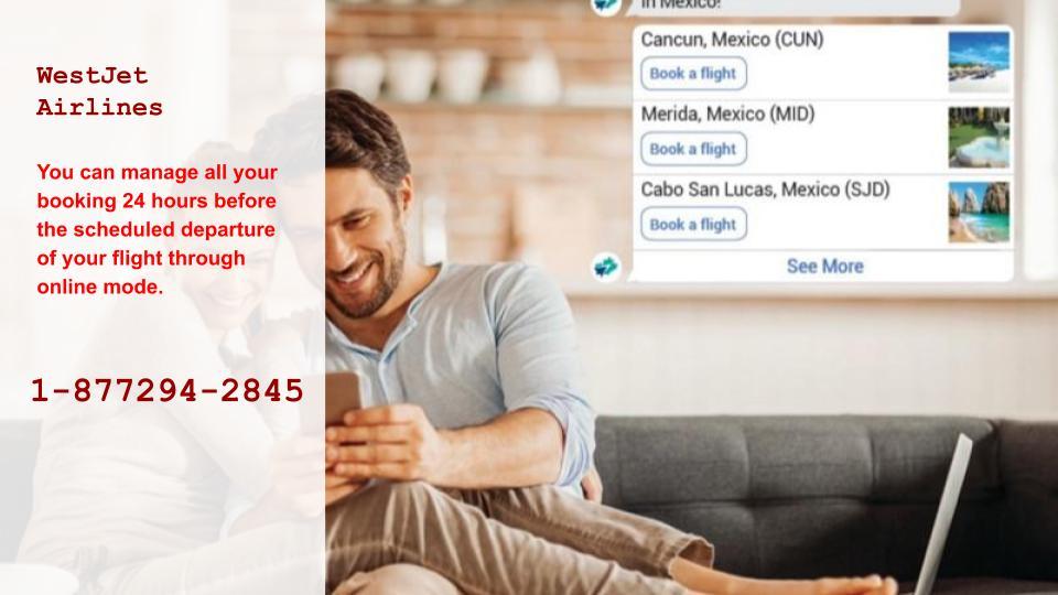 WestJet Airline Manage Booking