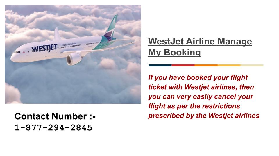 WestJet Airline Manage My Booking Phone Number